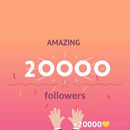 20000 Instagram followers + 20000 likes