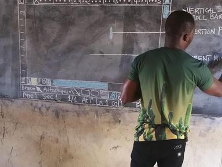Professor transforma a educação em Gana.