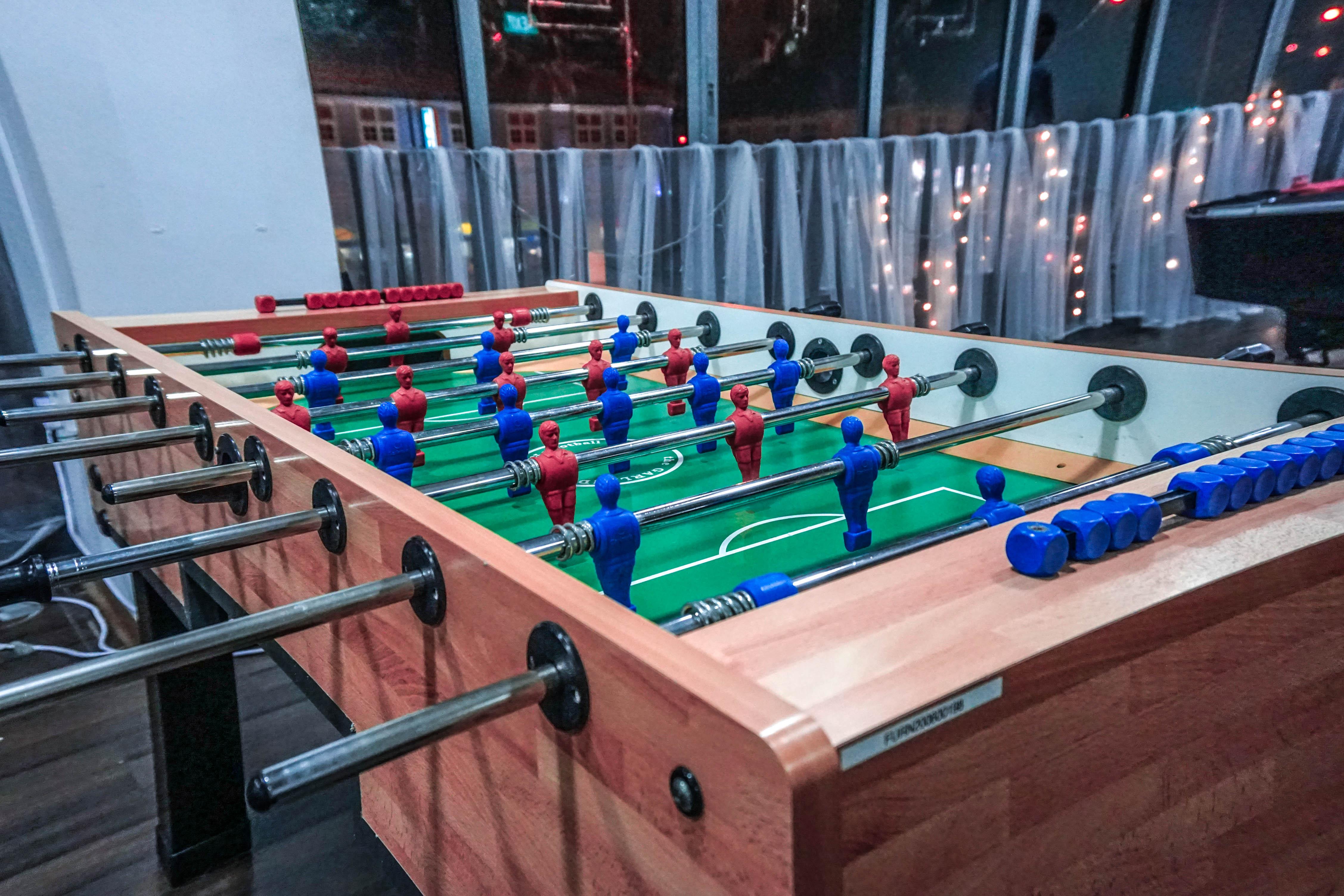foosball table venue baby shower