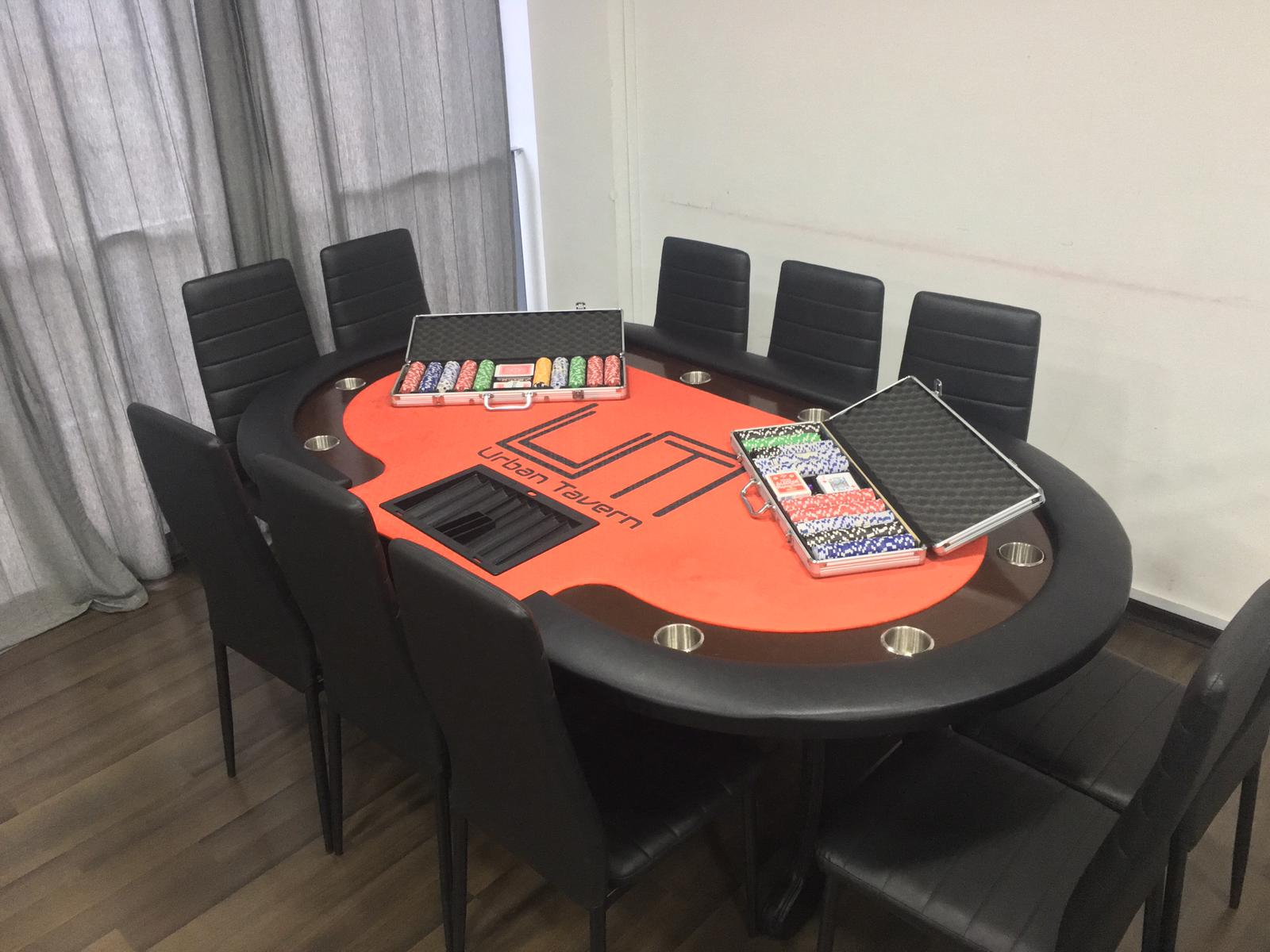 poker table event space birthdays