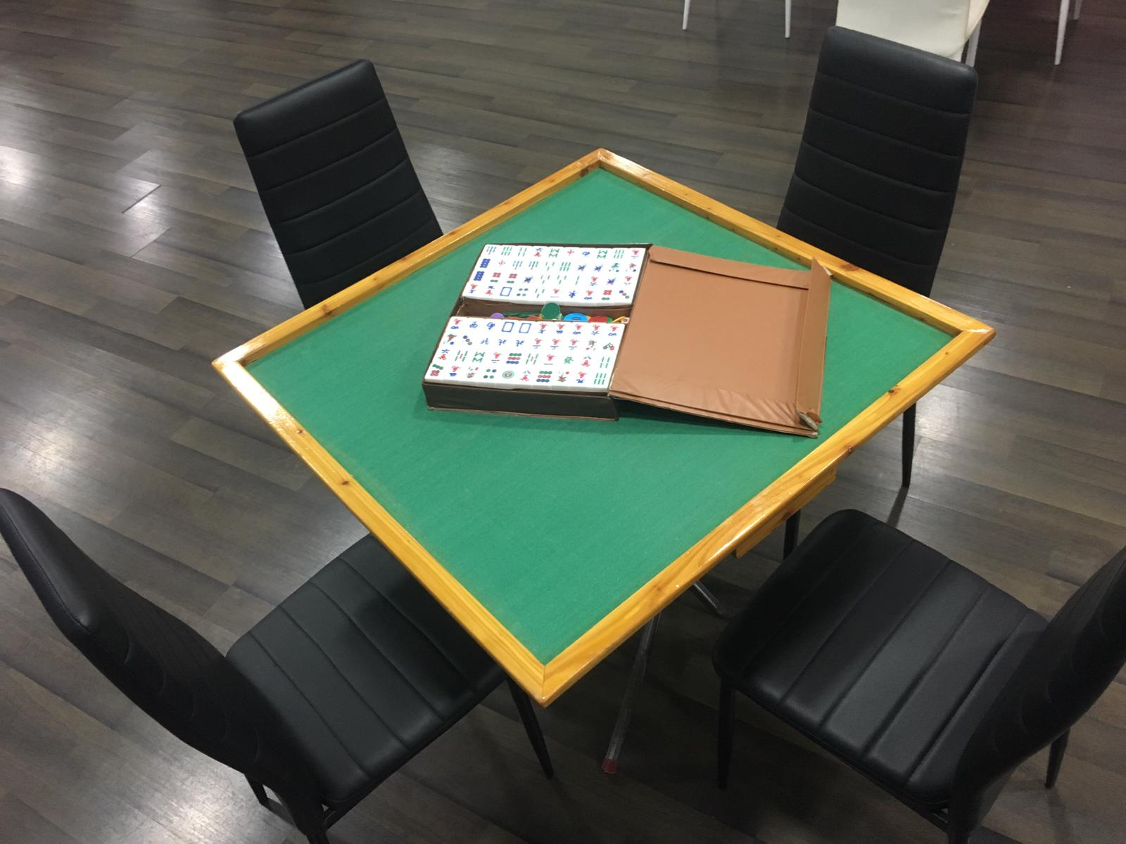 mahjong table family gathering venue