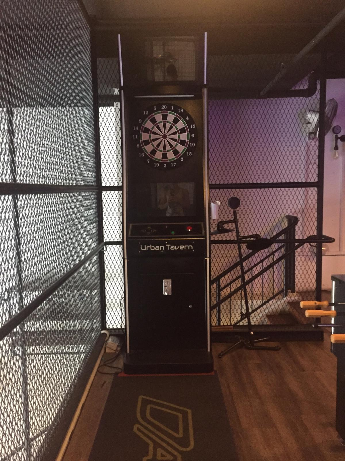 darts machine function room chalet