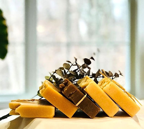 Handmade all-natural scented soaps.