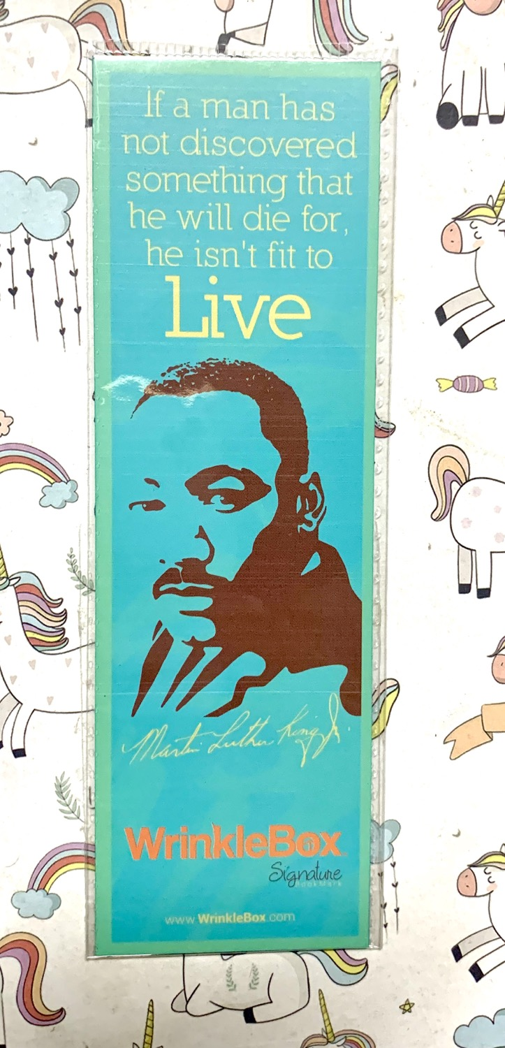Martin Luther King JR bookmark
