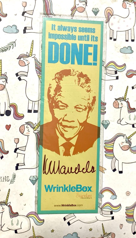 Nelson Mandela bookmark