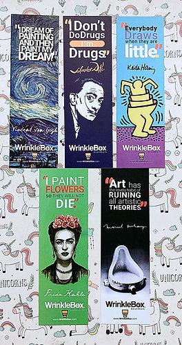 Art movements bookmarks set