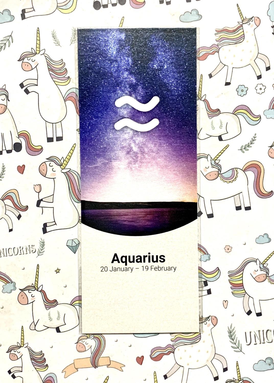Aquarius bookmark