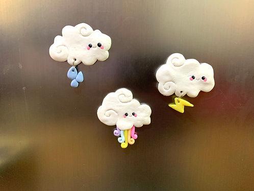 Clouds magnets set