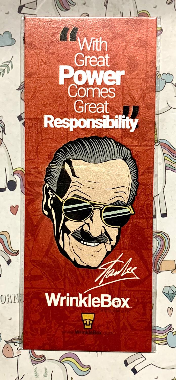 Stan Lee bookmark