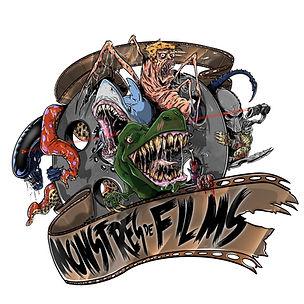 Logo monstres de films fond blanc pour I