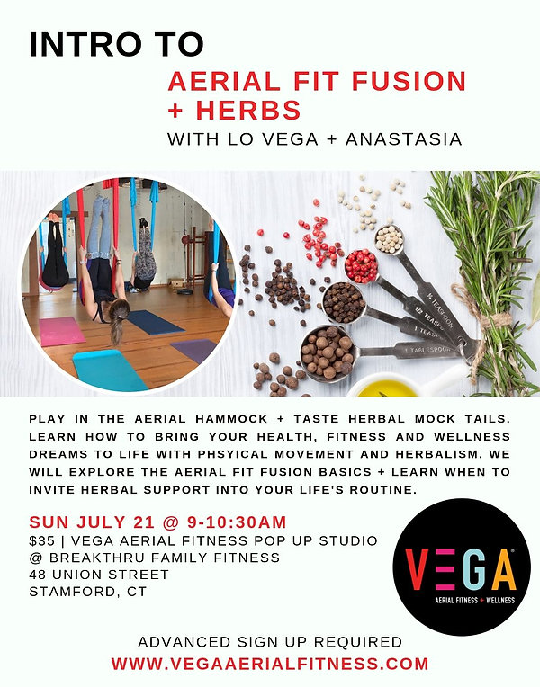 INTRO TO AERIAL FIT FUSION + HERBS EVENT