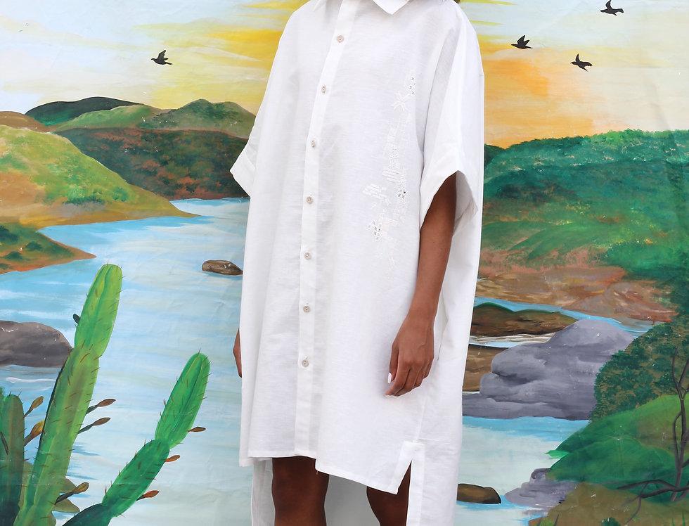 Camisa-vestido Renata • Off White