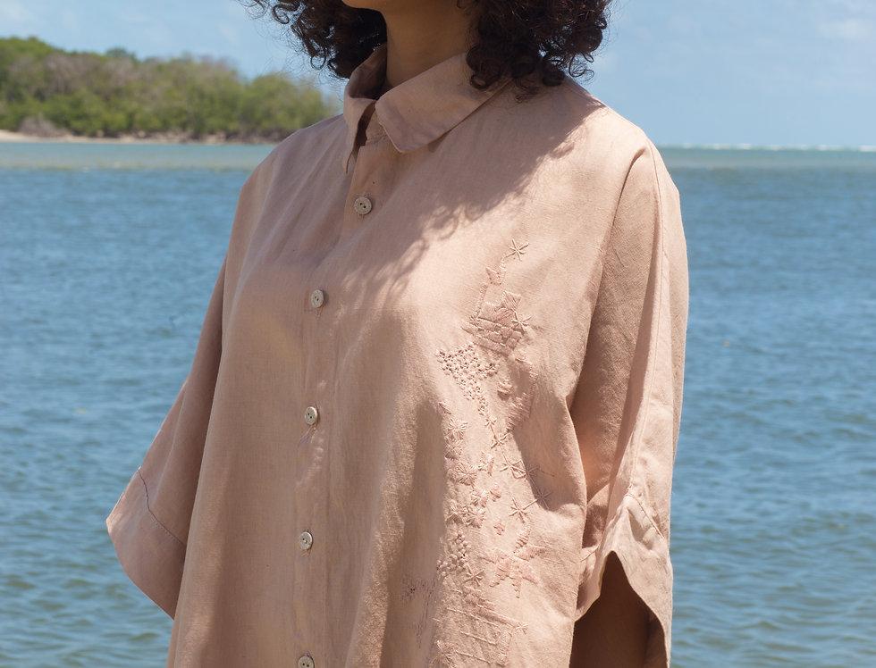 Camisa-vestido Renata • Angico