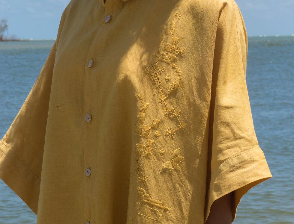 Camisa-vestido Renata • Açafrão