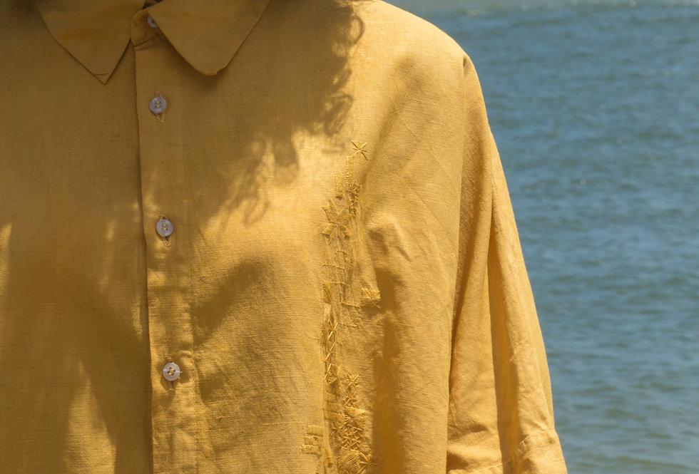 Camisa Alcina •  açafrão