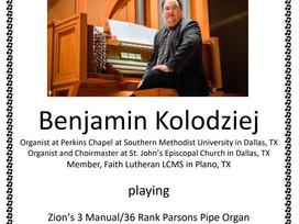 Mascoutah Organ Recital Features Texas Organist