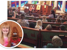 Proclaiming Jesus with puppet friend