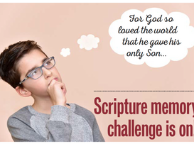 Scripture memory challenge is on!