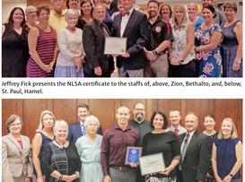 Three schools receive NLSA recognition