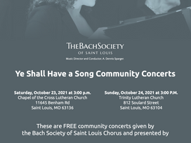 Ye Shall Have a Song Community Concerts