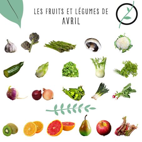 Les fruits et légumes d'avril