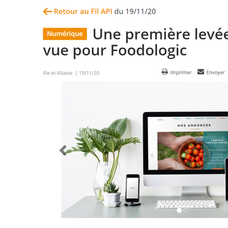 Une première levée de fonds en vue pour Foodologic
