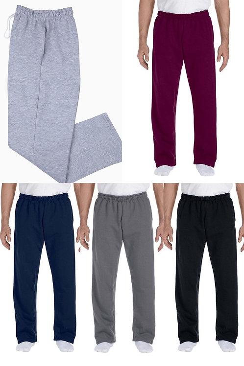 Gildan Unisex DryBlend Sweatpants Open-bottom w/pockets