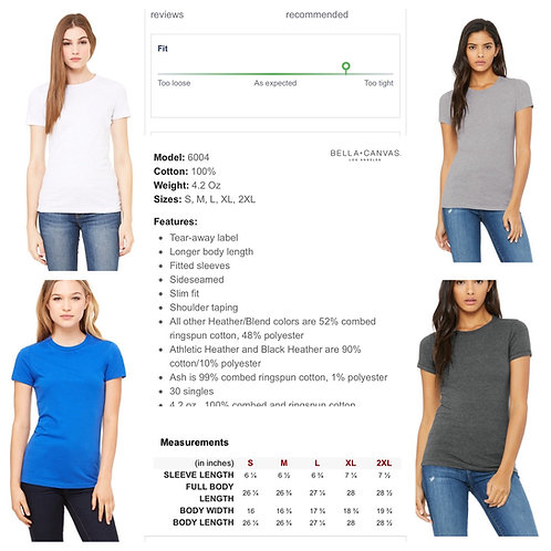 Ladies' Bella+Canvas Fitted Crew T-shirt
