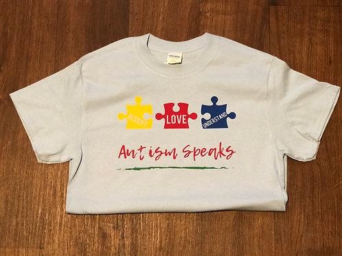 Autism Speaks - Accept - Love - Understand - Basic T-shirt - Unisex