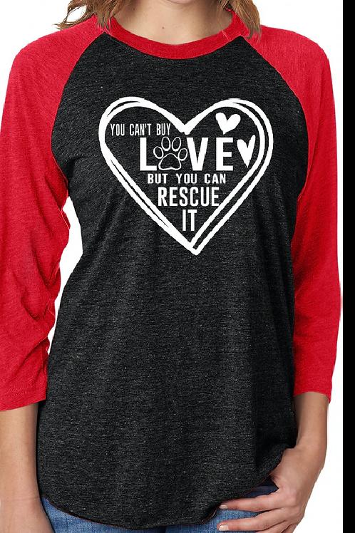 Rescue Love- Unisex Raglan