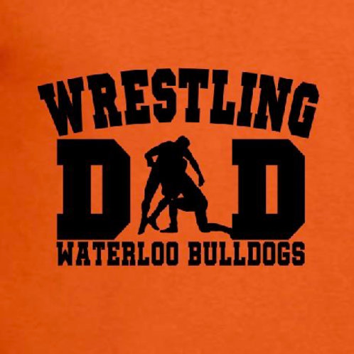 Wrestling Dad -  Name on back - All Styles