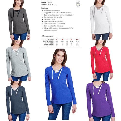 Ladies' LAT Long Sleeve Lace-up Shirt