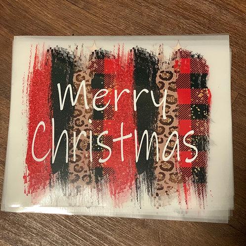 Merry Christmas Brush Stroke Design