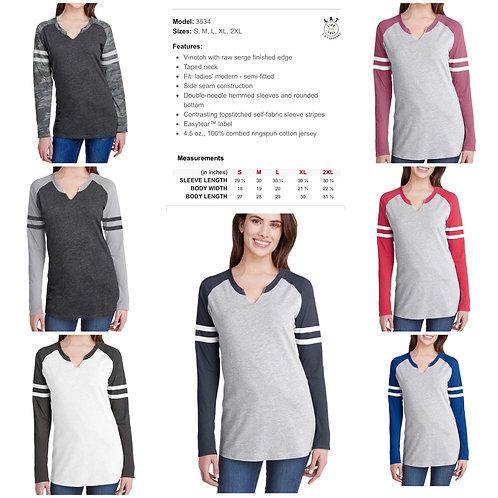 Ladies' LAT Gameday Mash-up Long Sleeve Shirt