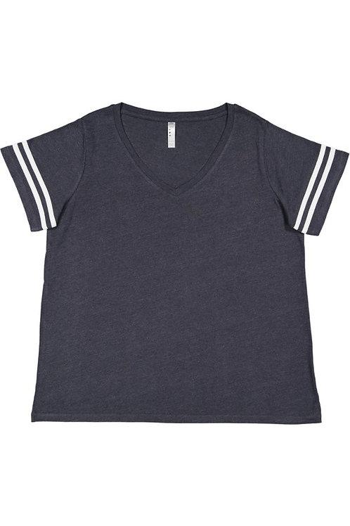 Ladies' Curvy Striped T-shirt