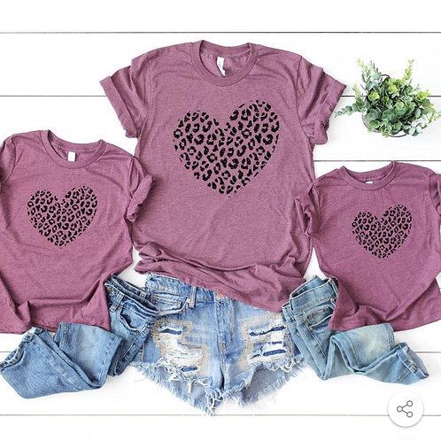 Leopard Heart - Screen Print