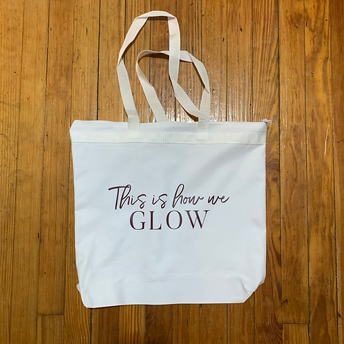 Melody zipper GLOW large tote bag