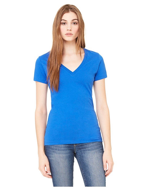 2x Ladies' Bella+Canvas Fitted Deep V-neck T-shirt