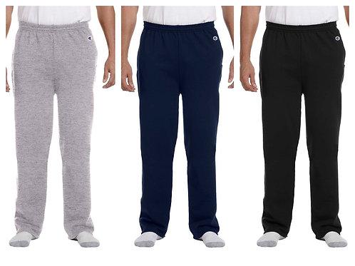Champion Unisex Sweatpants Open-bottom w/pockets