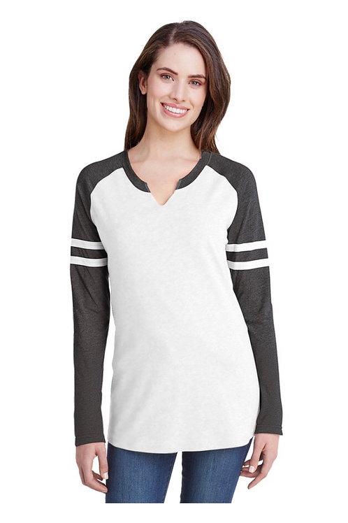 2X Ladies' LAT Gameday Mash-up Long Sleeve Shirt
