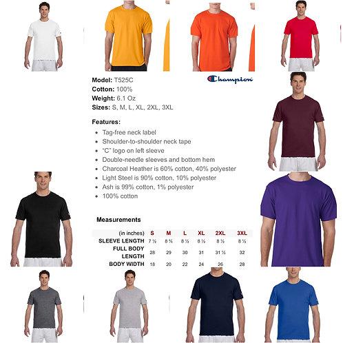 2x-3x Unisex Champion T-shirt