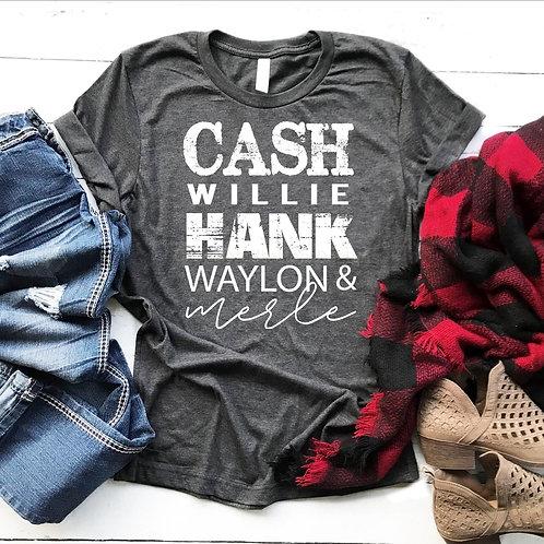 Cash, Willie, Hank, Waylon & Merle