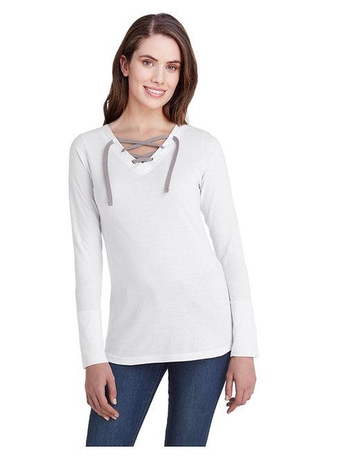 2X Ladies' LAT Long Sleeve Lace-up Shirt