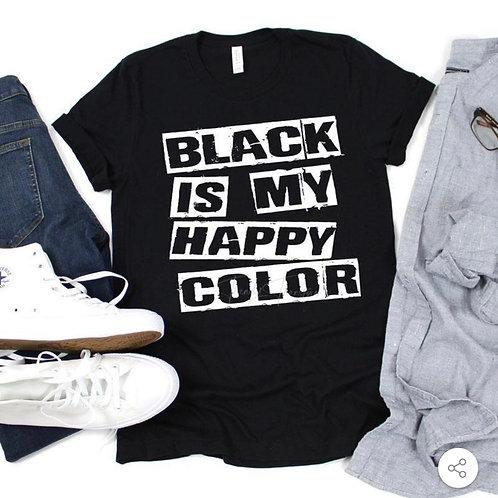 Black is my Happy Color - Screen Print