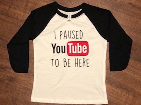 I paused You Tube to be here