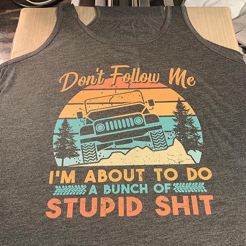 Don't Follow Me - Jeep - Flowy Tank