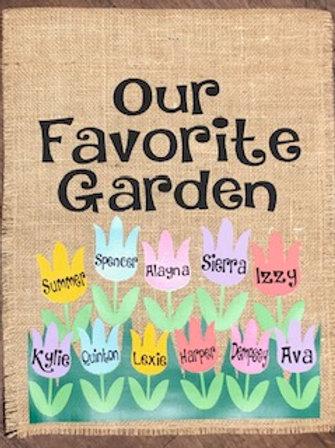Favorite Garden - Garden Flag