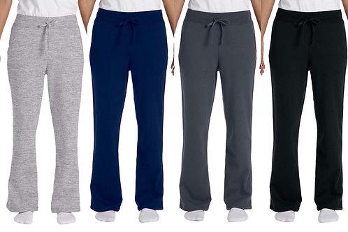 Gildan Ladies' Sweatpants Open-bottom w/pockets