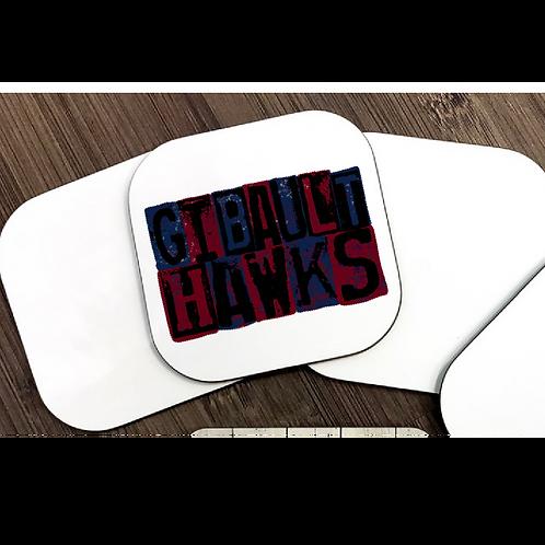 Gibault Hawks Coasters - Set of 4, design on all 4