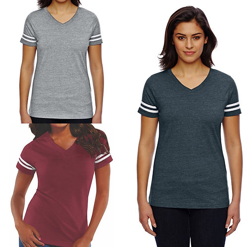 2x Ladies' Striped T-shirt